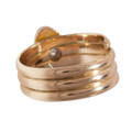 The Coils of Gold Snake Ring