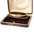 A Victorian Ruby and Diamond Gold Bangle in its Original Box