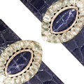 A Pair of Alligator Cuffs with Georgian Paste Buckles