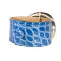 Blue Alligator Cuff Bracelet