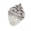 Antique Heart Silver Heart Pendant