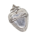 Antique Silver Heart Vinaigrette