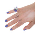 Antique Enamel Ring and Micropave Diamond Ring