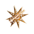 Antique Star Pin with Diamonds in 18 Kt Gold