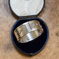 Antique Silver Bangle Button Cuff