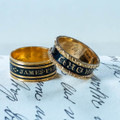 Antique 19th century mourning rings