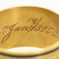 Hand engraved inscription on Georgian Mourning Ring