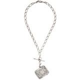 Antique Albert Watch Chain and Silver Vesta Necklace