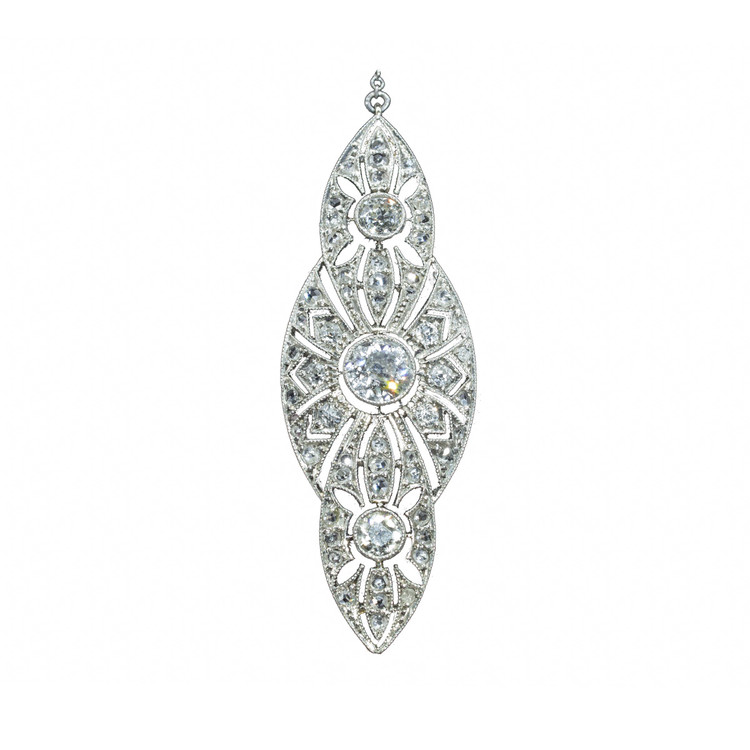 Art Deco Diamond and Platinum Pendant