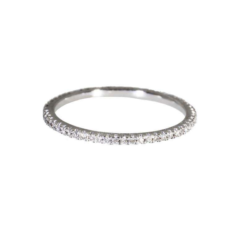 Diamond eternity ring in 18 Kt. white gold.