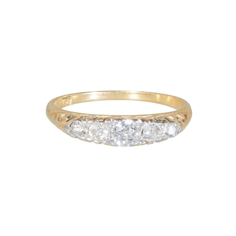 Antique Half Hoop Diamond Ring