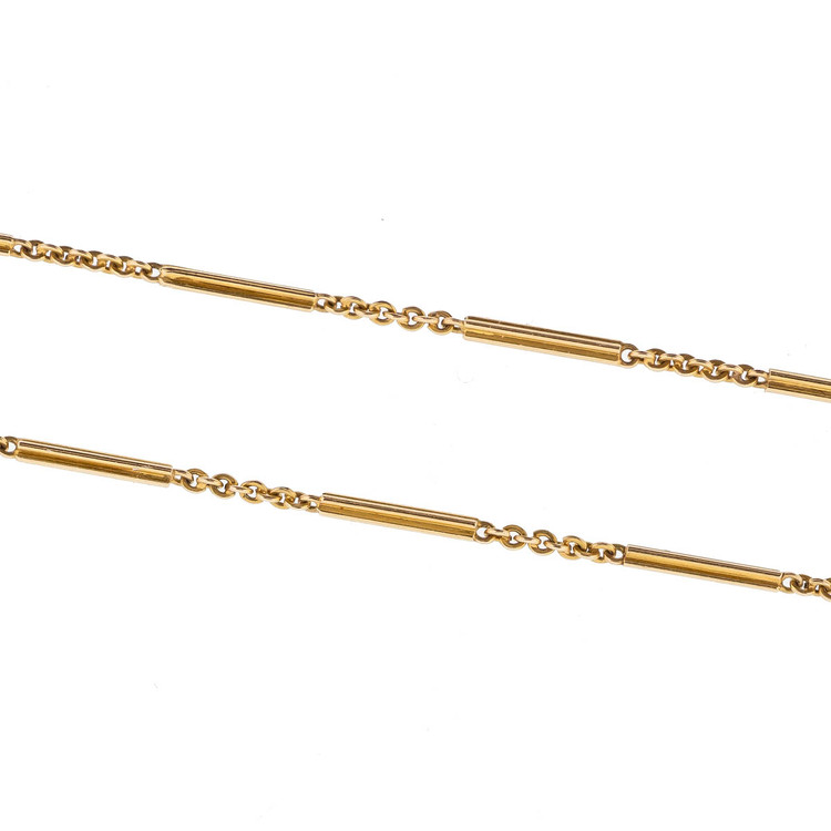 1920's Gold Chain, 14 kt Gold, Lariat