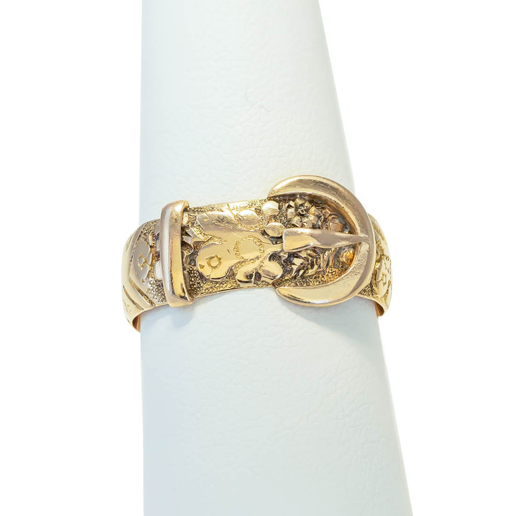 Antique Gold Buckle Ring