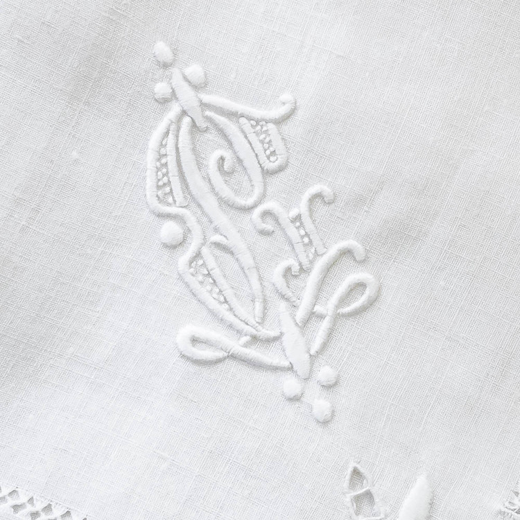 "Antique Monogrammed Linen Napkins ""LG or GL"""