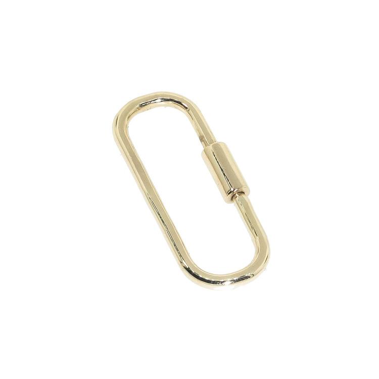 14 Kt gold charm holder, lock, charm hanger, charm enhancer, charm clip, charm connector, carabiner, jewelry lock, bracelet clasp, necklace extender, bracelet extender