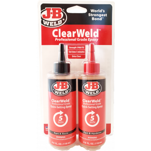 ClearWeld™ Two Part Epoxy 8oz   50240CAN