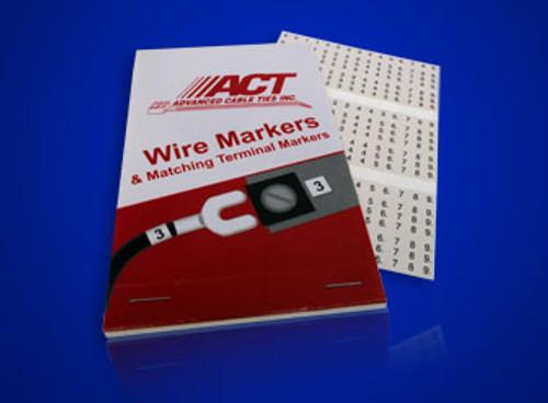 Blank Wire Marker Label Booklet  AL-MARK-101
