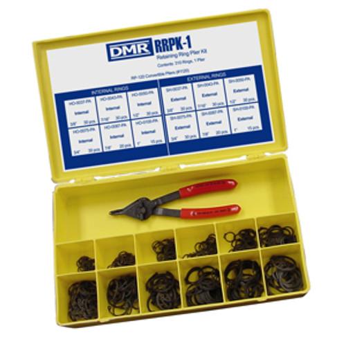 310 Pc. Internal/External SAE Phosphated HO/SH Retaining Ring Kit w/Plier  RRPK-1