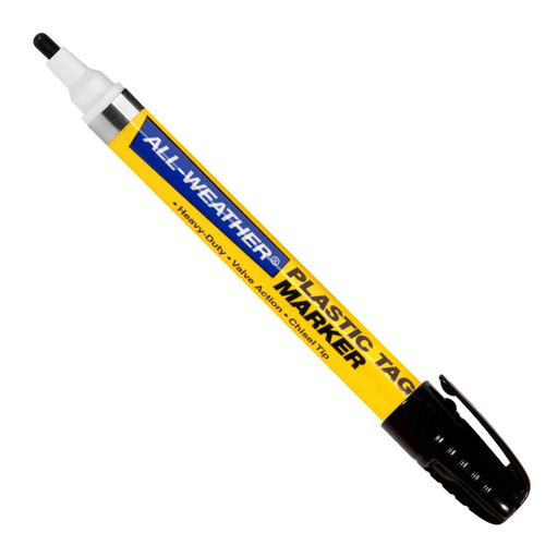 ALL-WEATHER PLASTIC TAG MARKER REG BLACK  096623