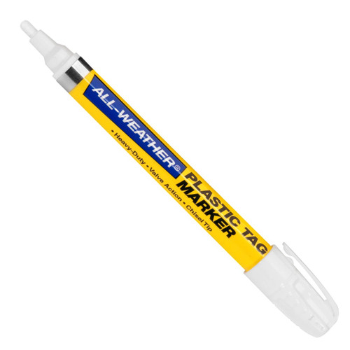 ALL-WEATHER PLASTIC TAG MARKER REG WHITE  096638