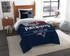 New England Patriots NFL Bedding Twin Comforter and Sham Set