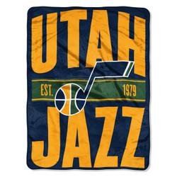 Utah Jazz NBA Clear Out Micro Raschel Throw