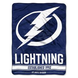 Tampa Bay Lightning NHL Breakaway Micro Raschel Throw