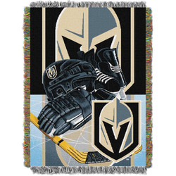 Vegas Golden Knights NHL Home Ice Advantage Woven Tapestry Throw