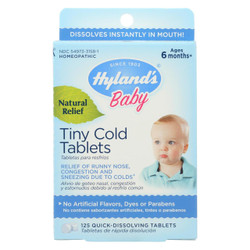 Hyland's Baby Tiny Cold Tablets 125 Tablets