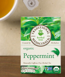 Traditional Medicinals Organic Peppermint Herbal Tea - Case of 6