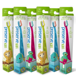 Preserve Kids Soft Toothbrush - Assorted Colors (6 Pack)