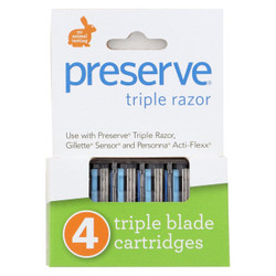 Preserve Triple Replacement Blades - 4 Blades (Case of 6)