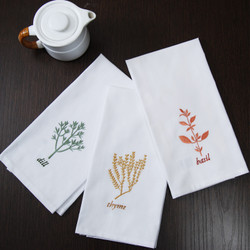 Cambay Linens Kitchen Towels 6 Piece Set With Embroidery