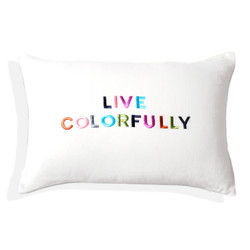 Cambay Linens Embroidered Filled Decoration Pillow