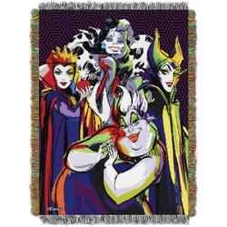 Disney Villains Villainous Group Woven Tapestry Throw Blanket