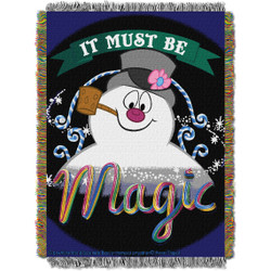 """Frosty the Snowman, """"It's Magic"""" Woven Tapestry Throw Blanket"""