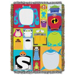 Pixar Character Blocks Woven Tapestry Throw  Blanket
