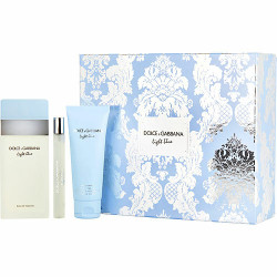 D & G Light Blue by Dolce & Gabbana Eau De Toilette Spray, Body Cream & Mini Eau De Toilette Spray