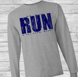 We Will Run and Not Grow Weary Long Sleeve Christian T Shirt by Truth Bomb
