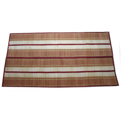Woven Straw Yoga Beach Mat for Indoors and Outdoors, Multicolor