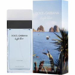 D & G Light Blue Love in Capri by Dolce & Gabbana Eau De Toilette Spray 3.3 oz