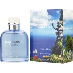 D & G Light Blue Beauty of Capri by Dolce & Gabbana Eau De Toilette Spray 4.2 oz