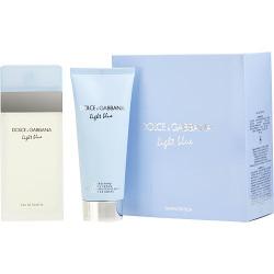 D & G Light Blue by Dolce & Gabbana Eau De Toilette Spray 3.4 oz & Body Cream 3.3 oz (Travel Offer)