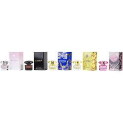 Versace Variety by Gianni Versace 5 Piece Women's Mini 0.17 oz Variety with Crystal Noir Eau De Toilette & Bright Crystal Eau De Toilette & Yellow Diamond Eau De Toilette & Yellow Diamond Intense Eau De Parfum & Bright Crystal Absolu Eau De Parfum