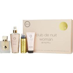 Armaf Club De Nuit by Armaf Eau De Parfum Spray 3.6 oz & Body Spray 1.7 oz & Body Lotion 3.4 oz & Fragrance Body Spray 8.4 oz