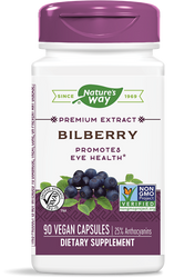Nature's Way Bilberry Standardized - 90 Capsules
