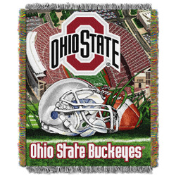 Ohio State Buckeyes Home Field Advantage Woven Tapestry Throw