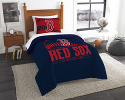 Boston Red Sox MLB Bedding Twin Comforter and Sham Set