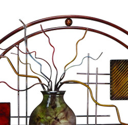 Aesthetically Charmed Round Metal Wall Décor, Multicolor