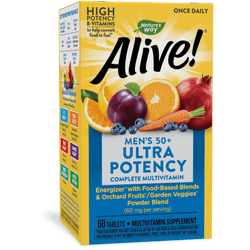 Nature's Way Alive! Once Daily Men's 50+ Ultra Potency Multivitamin - 60 Tablets